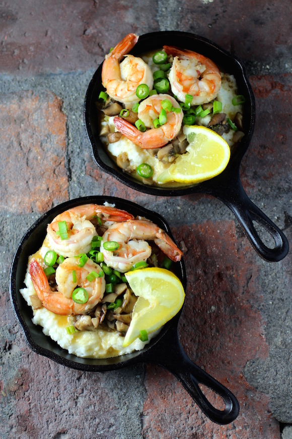 Shrimp And Grits In Mini Cast Iron Skillets Taste With