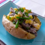Tasting Good Naturally : Baked potato aux champignons - Vegan