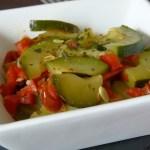 Tasting Good Naturally : Courgettes aux poivrons et tomates séchées