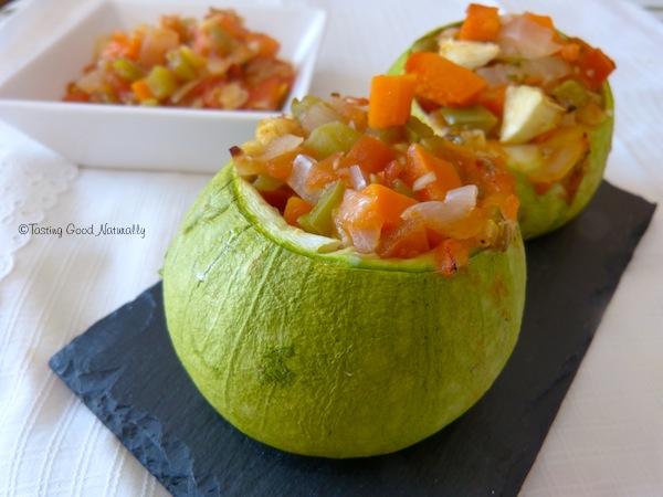 Courgettes farcies aux légumes #vegan