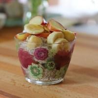 Porridge aux flocons d'avoine, graines de chia et fruits frais #vegan et Résultats du concours