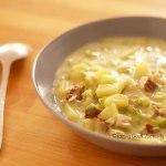 Soupe écossaise au tofu fumé – végétalien –
