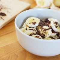 Porridge de l'hiver banane chocolat et sa vidéo #vegan