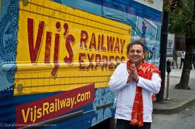 Vikram Vij with truck