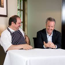 Chef Andrey Durbach and Chris Stewart