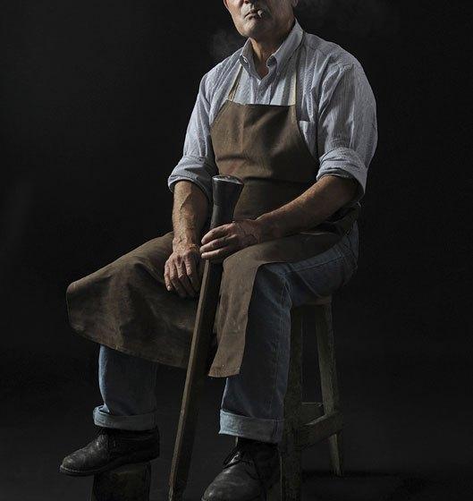 portrait of Luigi Pitzalis the last sardinian coppersmith