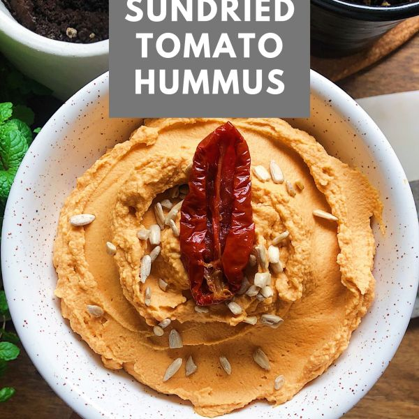 Easy vegan sundried tomato hummus recipe