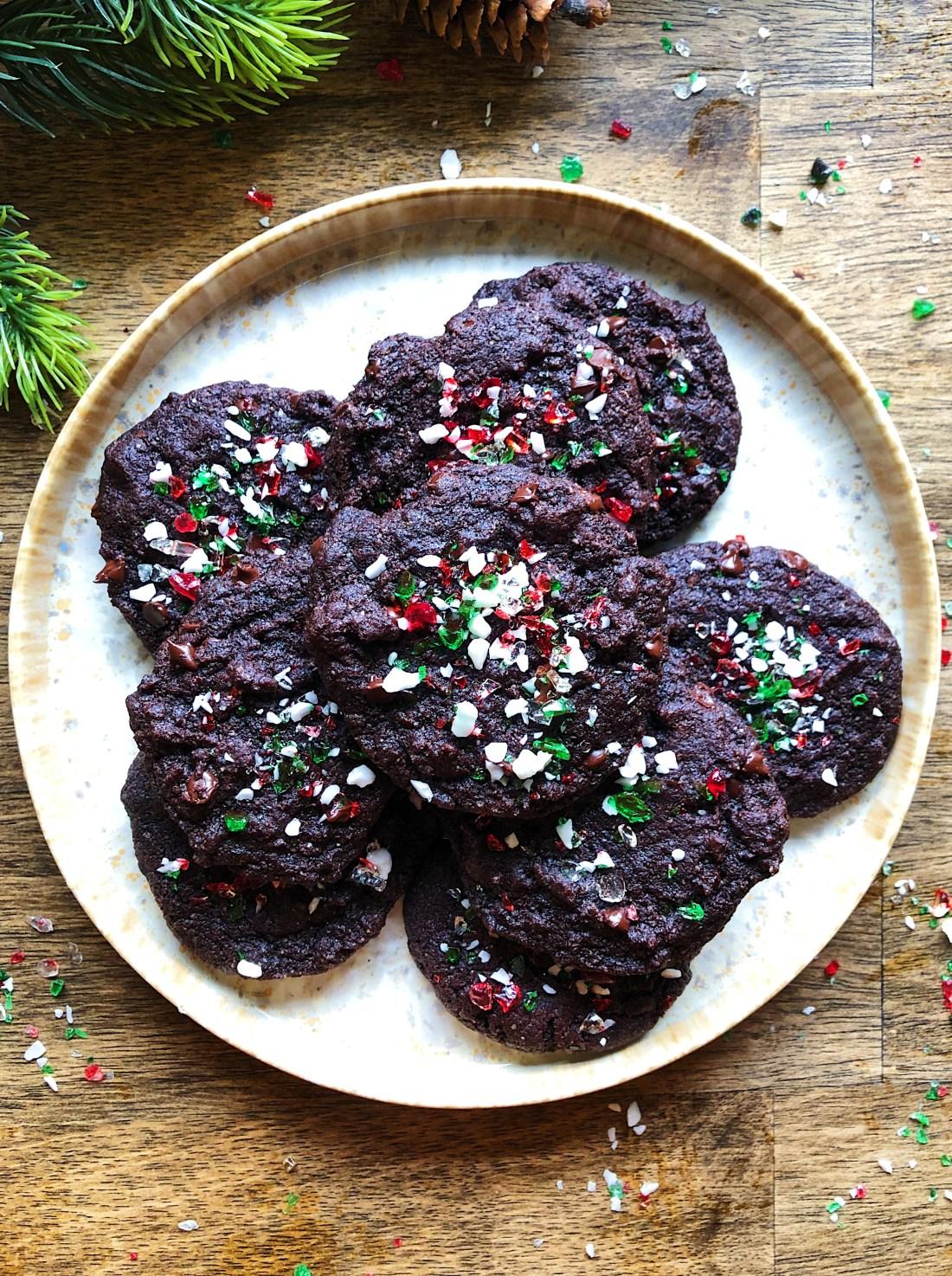 Vegan Peppermint Chocolate Cookies