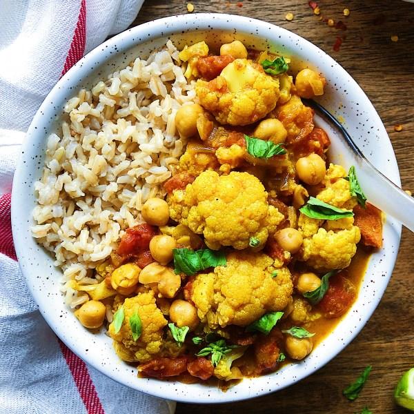 Healthy Vegan Cauliflower Curry