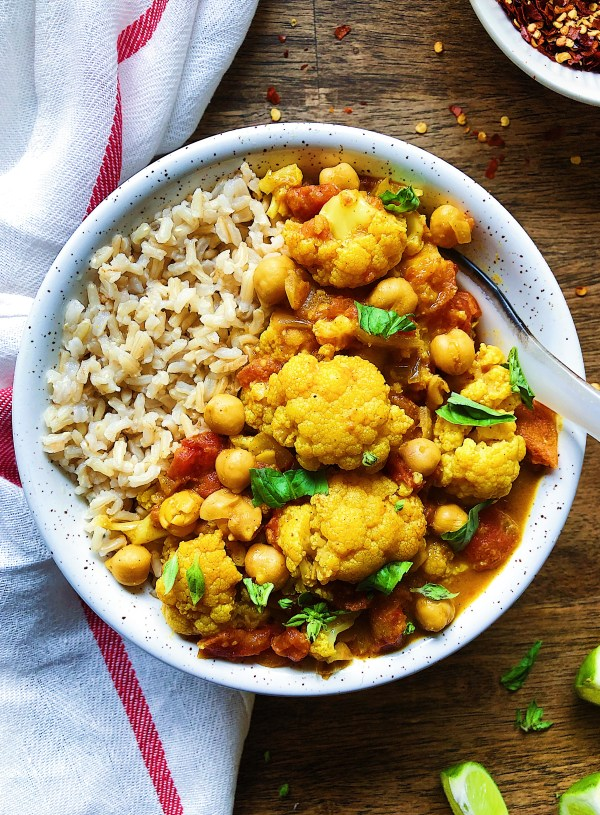 Healthy Vegan Cauliflower Curry