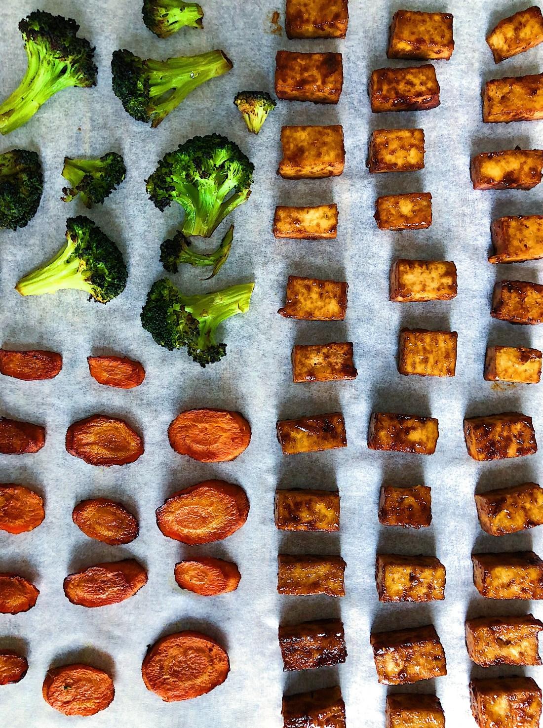 Vegan Sesame Tofu Sheet Pan Meal