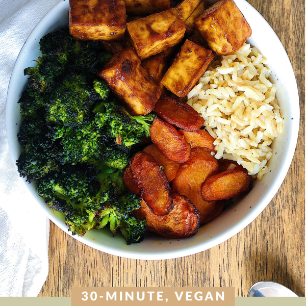 Vegan Sesame Tofu Sheet Pan Meal