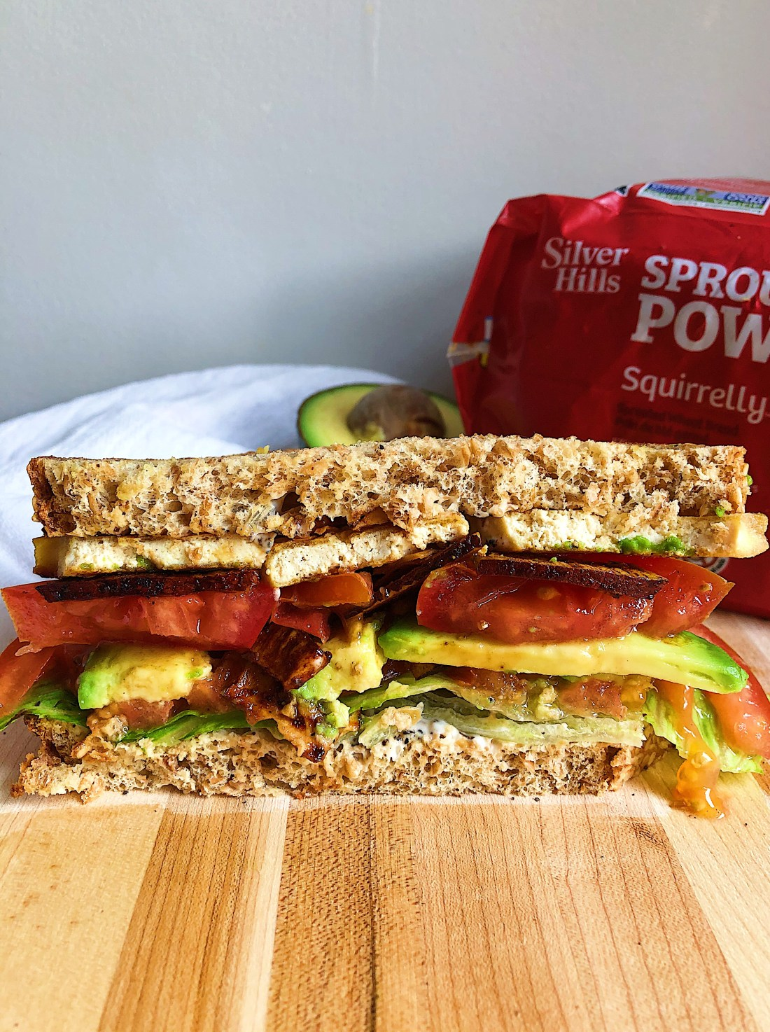 vegan clubhouse sandwich recipe with coconut bacon