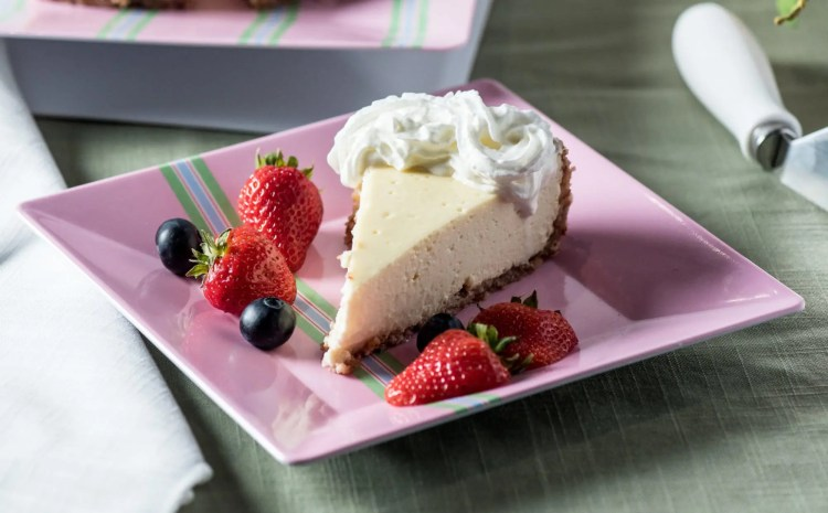 Low carb cheesecake on plate