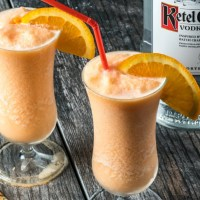 Low Carb Orange Creamsicle Cocktail