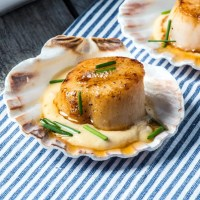 Keto Scallops with Jarlsberg Cheese Sauce