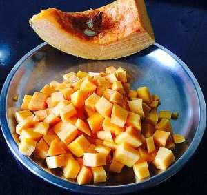 IMG_0018-300x283 Stir Fried Red Pumpkin/Red Pumpkin Poriyal