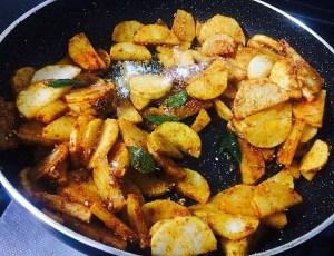 IMG_0642-300x230 Stir Fried White Radish (Sukhi Mooli ki Subji / Mullangi Poriyal)