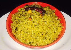 IMG_0993-300x214 Rice with Sorrel Leaves/Gongura Puliyodharai/Pullicha Keera