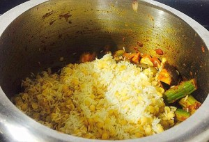 IMG_3868-300x204 Rice with Lentil and mixed Vegetables / Kootan Choru