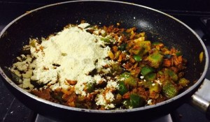 IMG_4507-300x175 Green peppers with Gram Flour/Capsicum Besan Sabzi /Capsicum Zunka