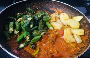 IMG_7560-300x195 Aloo Bhindi Masala / Okra Potato Curry