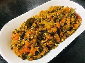 IMG_8441-300x223 Okra Tomato Curry/Vendaikkai Pachadi (Nellai Style)