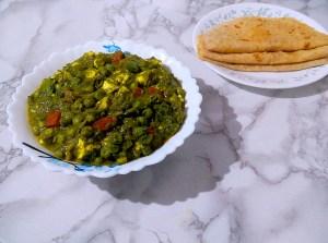 IKDF6179-300x223 Cottage Cheese and Green Peas in Spinach Gravy/Matar Paneer Hara Masala