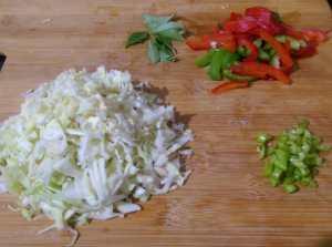 EJDU4451-300x223 Cabbage and Capsicum Rice