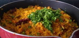 EEEW0405-300x147 Bengali Style Vegetable Poha/Flattened Rice/Aval/Chirer Pulao