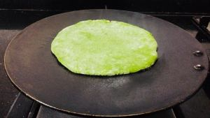 GFZW8117-300x169 Indian Spinach Flat Bread Stuffed with Cottage Cheese/Palak Paneer Paratha
