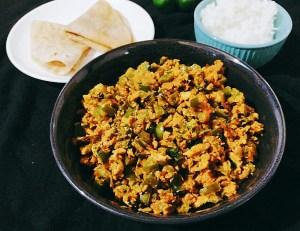 CUAL0931-300x231 Egg Capsicum Bhurji/ Scrambled Egg with Bhurji