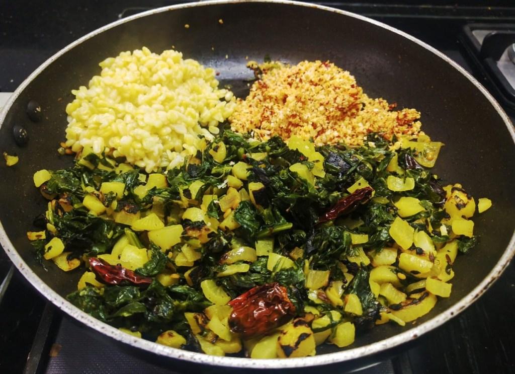 FDSG8373-1024x743 Easy Radish Stir fry with Radish Green/ Dry Mooli Ki Subzi/ Mullangi Keerai Pasi Paruppu Poriyal