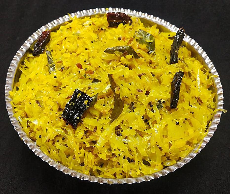 GCUM0190 Kerala Style Cabbage Stir Fry/Cabbage Thoran