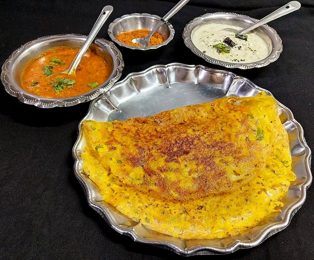 KPEY4562-1024x849 Instant Wheat Flour and Poha Dosa