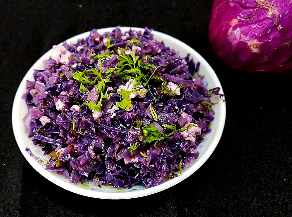 LDSG4830 Purple Cabbage and Cottage Cheese Stir Fry