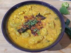 NKNR0592-300x225 Spiny Gourd Lentil Curry/ Kantola Dal