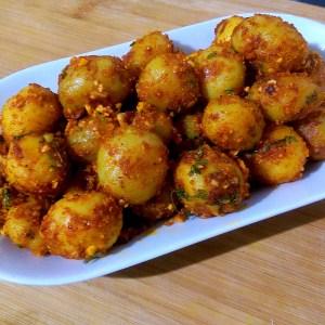 RMSQ9321-300x300 Easy Peasy Garlic Flavored Baby Potato Roast