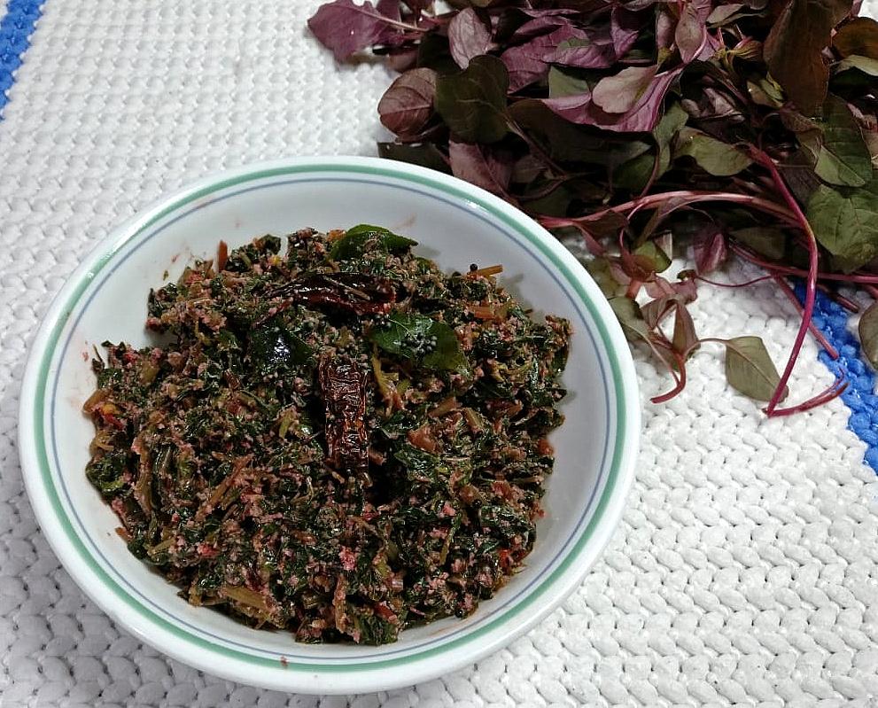 VKWG3450 Goan Tambdi Bhaji/ Laal Saag/ Goan Style Red Amaranth Curry