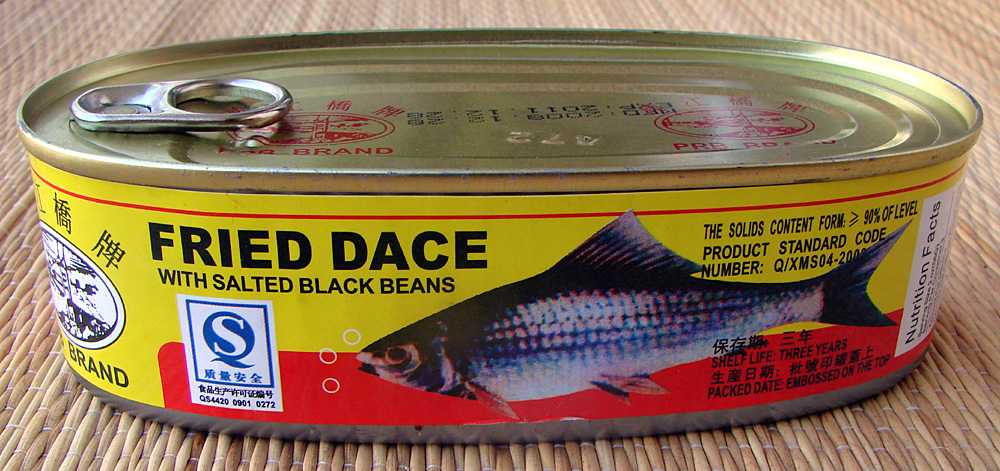 Fried dace with salted black beans tasty island for Fried fish nutrition