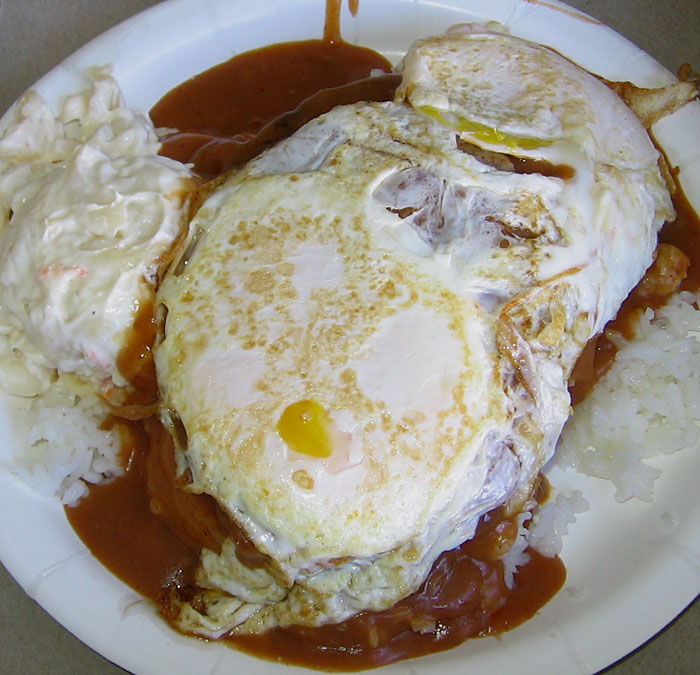 The Loco Moco At Rainbow Drive In Tasty Island