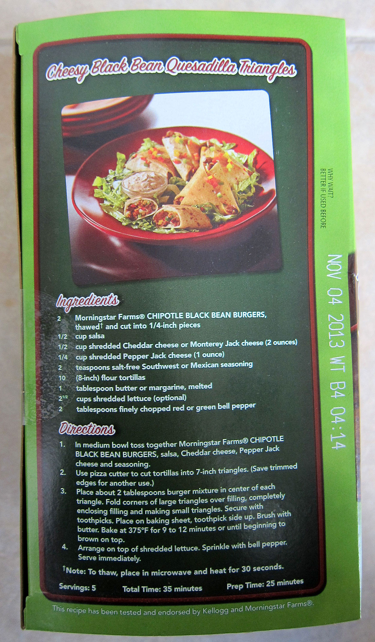 Costco Eats Morningstar Farms Chipotle Black Bean Veggie Burger
