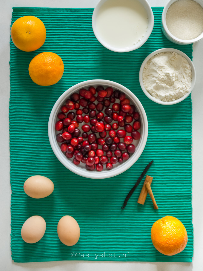 Cranberry Clafoutis. Photography + Styling: © Gitta for www.tastyshot.nl