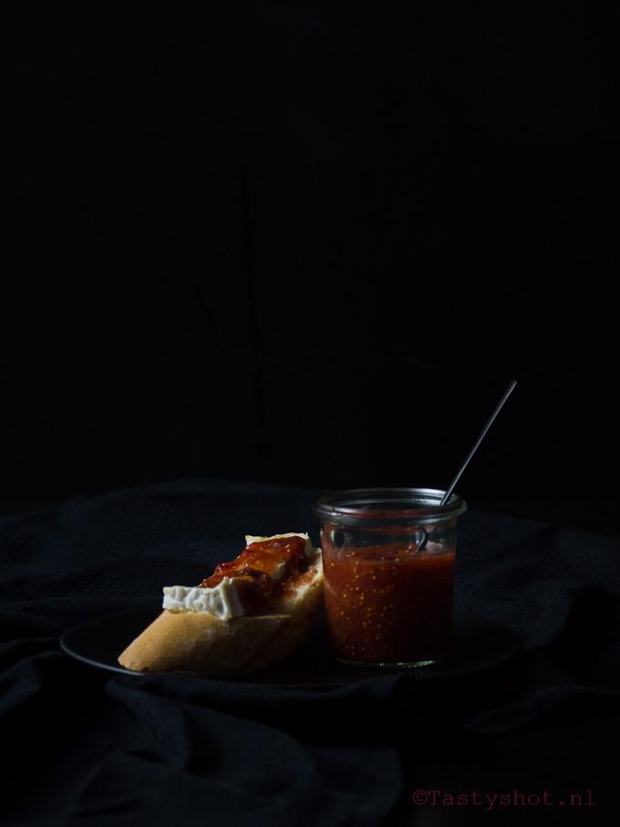 Recept voor vijgenjam. Photography: © Gitta Polak www.tastyshot.nl