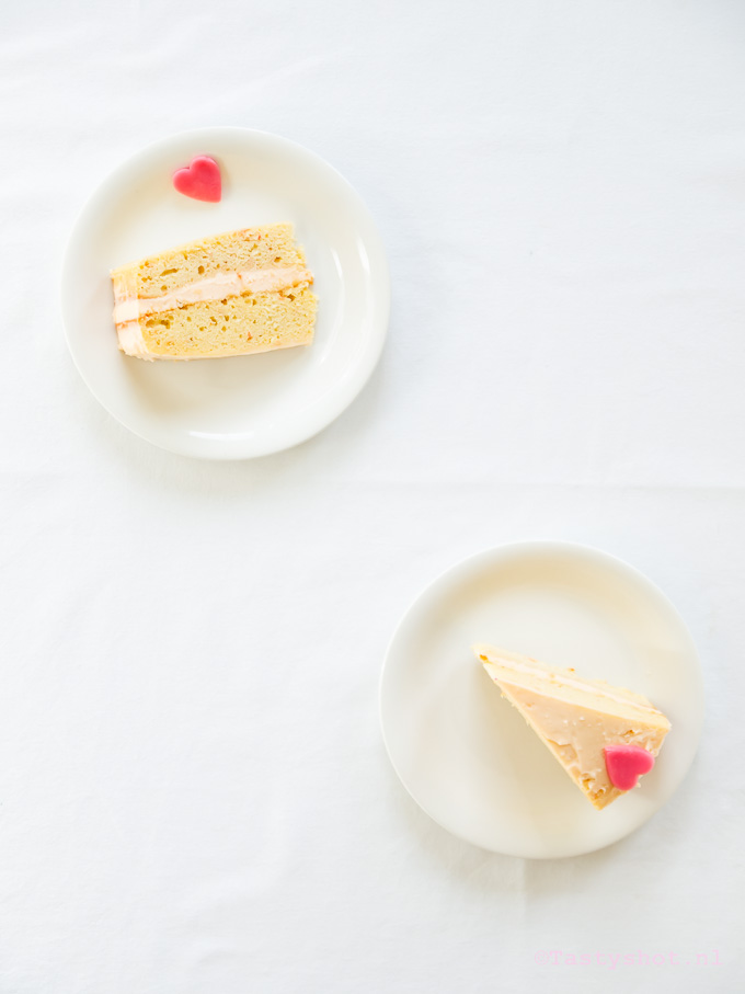 Bloedsinaasappeeltaart voor Valentijn - Blood orange cake recipe. © Gitta Polak www.tastyshot.nl