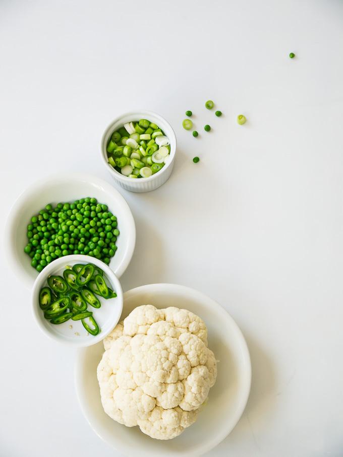 Recept voor Thaise groene curry bloemkoolsoep - Thai green curry cauliflower soup © Gitta Polak www.tastyshot.nl