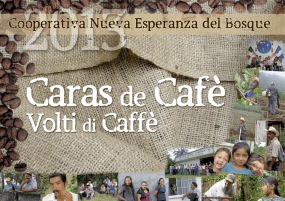 La copertina del Calendario Caras de Cafè  - dal sito dell'Associazione Tatawelo.