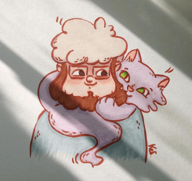 Tata Wilkołak i Mentalny Kot