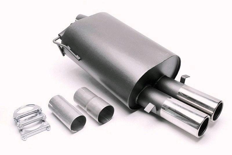 ta technix sport rear muffler 2x76mm fits for bmw 5er series sedan type e39