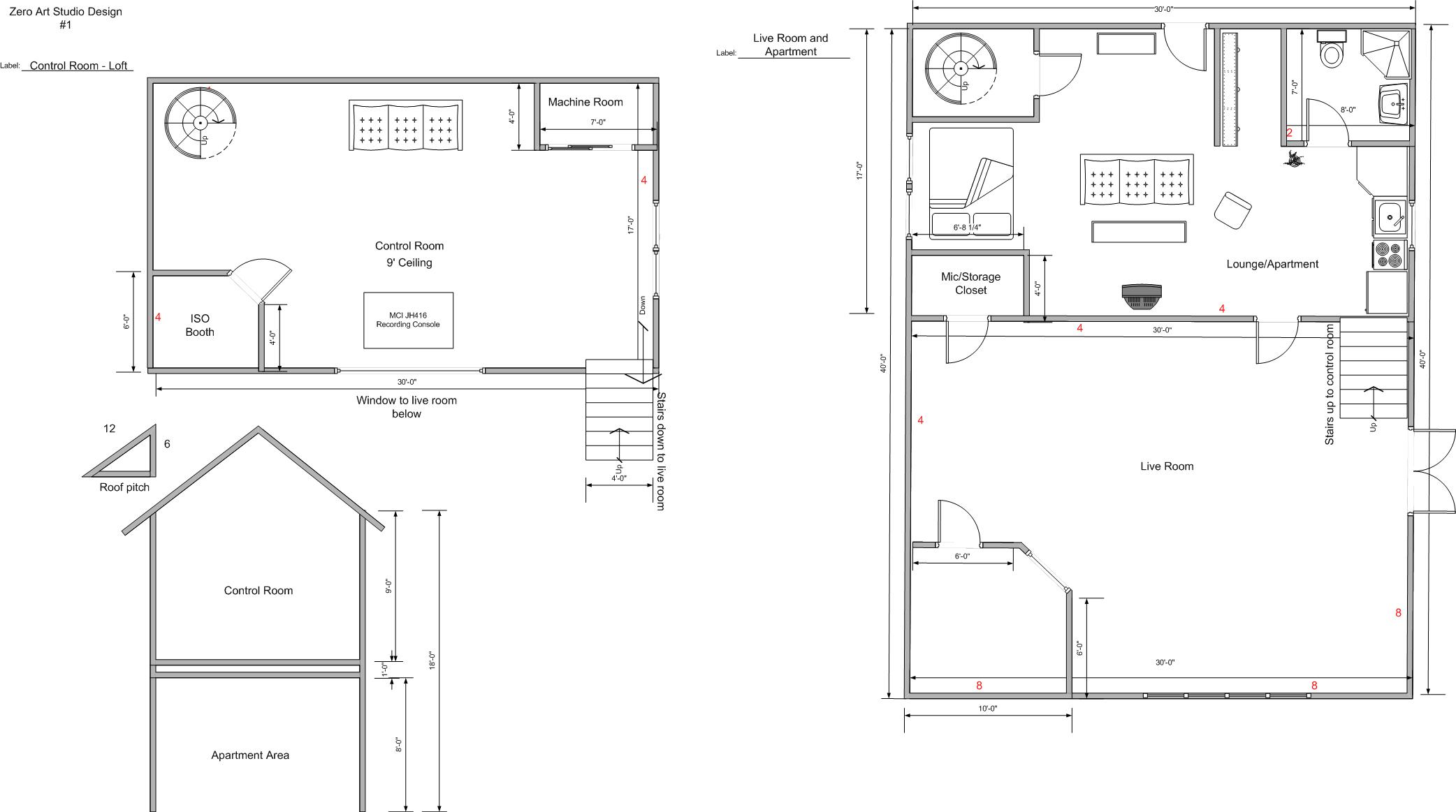 Zero Art Studio Final Floor Plan